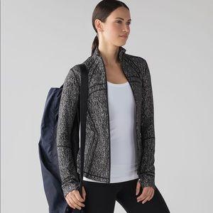 LULULEMON   Define Jacket Luon Suited Jacquard Black White Size 4